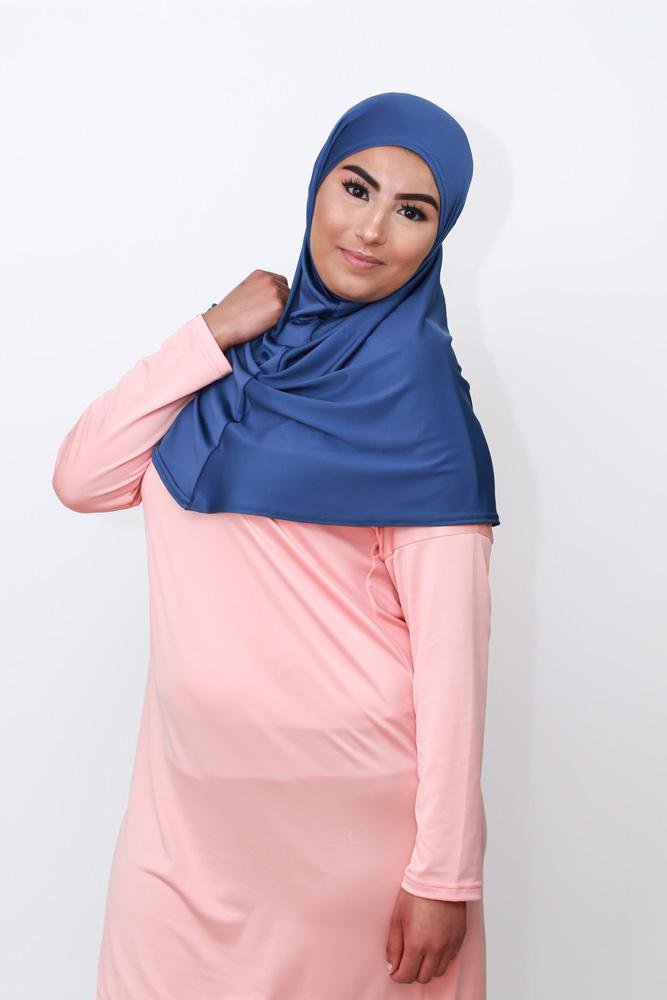 Noor hijab Navy Coverwear Be Healthy Run
